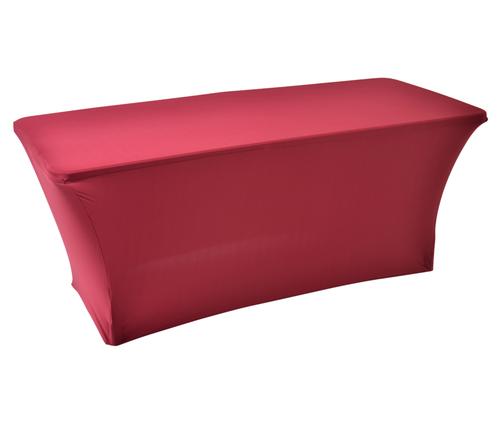 Rode stretch tafelrok