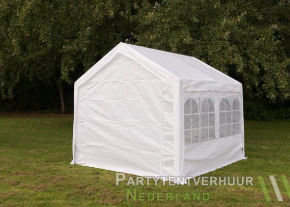 Partytent 3x3 meter achterkant huren - Partytentverhuur Leiden