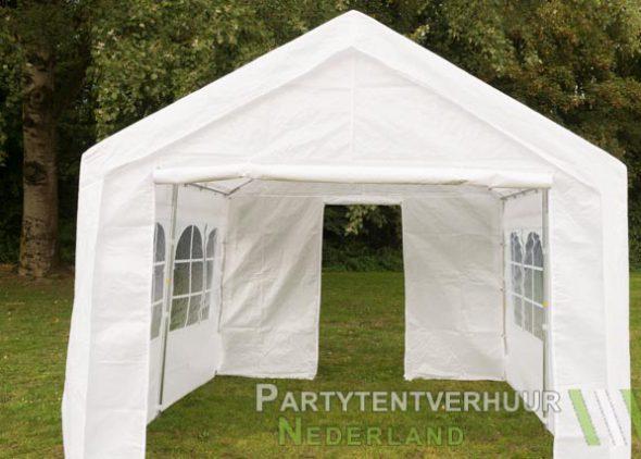 Partytent 3x3 meter voorkant met deur huren - Partytentverhuur Leiden