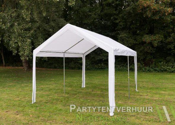 Partytent 3x4 meter schuin voorkant huren - Partytentverhuur Leiden