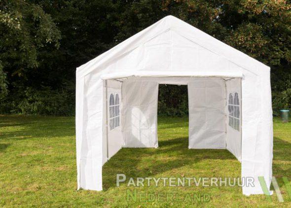 Partytent 3x4 meter voorkant met deur huren - Partytentverhuur Leiden