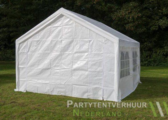 Partytent 4x4 meter achterkant huren - Partytentverhuur Leiden