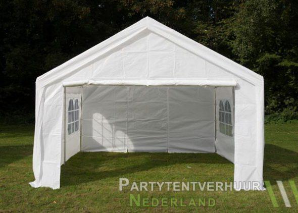 Partytent 4x4 meter voorkant huren - Partytentverhuur Leiden