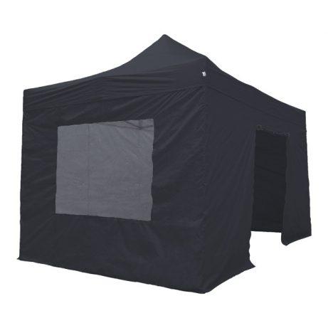 Zwarte easy up tent van 3x4.5 huren