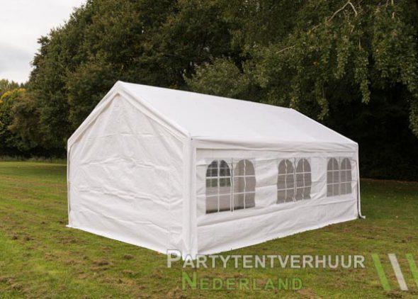 Partytent 4x6 meter achterkant huren - Partytentverhuur Leiden