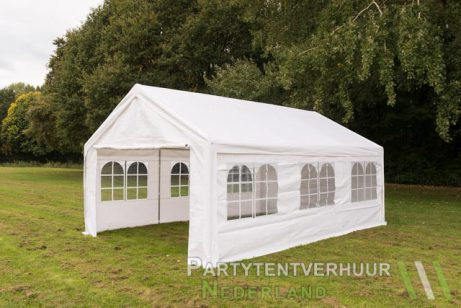 Partytent 4x6 meter zijkant huren - Partytentverhuur Leiden