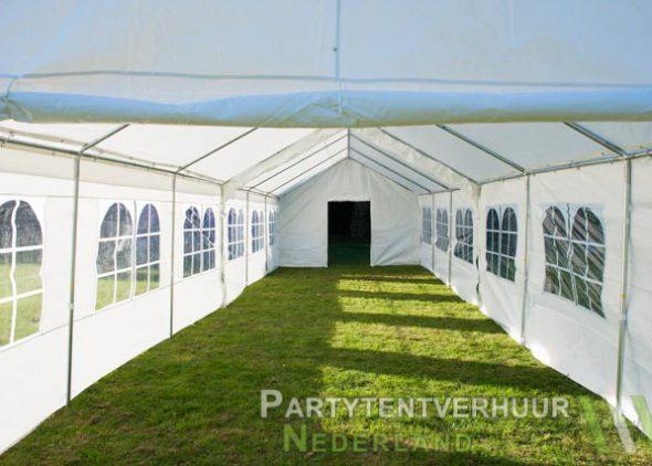 Partytent 6x12 meter binnenkant met deur huren - Partytentverhuur Leiden