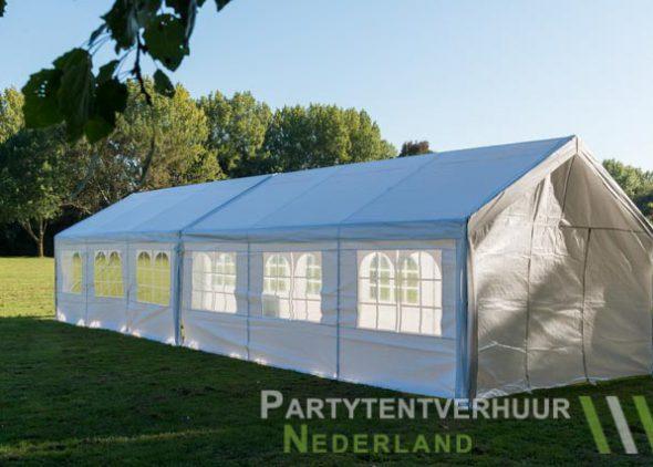 Partytent 6x12 meter zijkant links huren - Partytentverhuur Leiden
