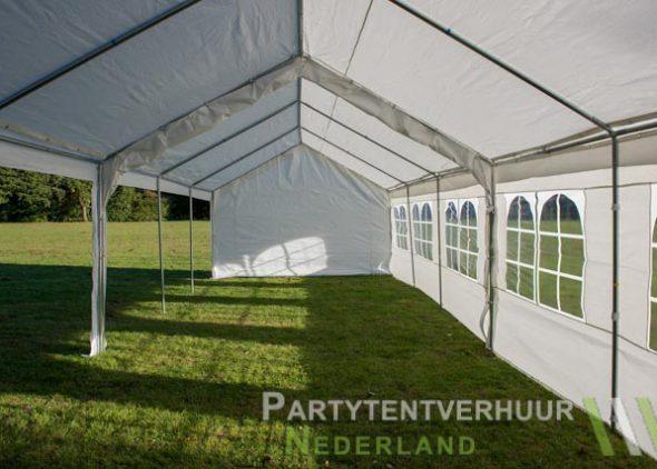 Partytent 6x12 meter zijkant links open huren - Partytentverhuur Leiden