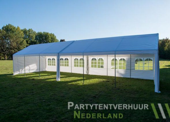 Partytent 6x12 meter zijkant open huren - Partytentverhuur Leiden
