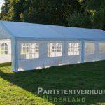 Partytent 6x12 meter zijkant rechts huren - Partytentverhuur Leiden