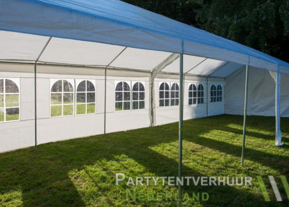 Partytent 6x12 meter zijkant rechts open huren - Partytentverhuur Leiden