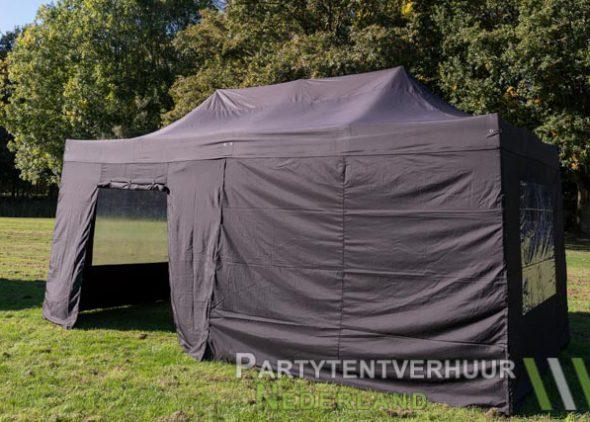 Easy up tent 3x6 meter zijkant met deur huren - Partytentverhuur Leiden