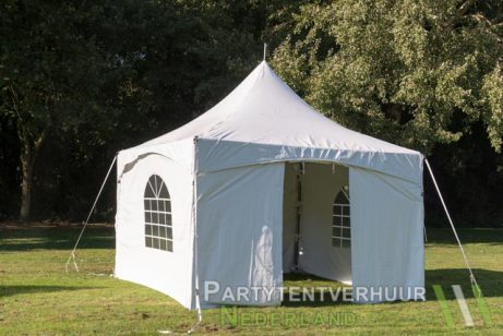 Pagodetent 5x5 (brandwerend) meter voorkant huren - Partytentverhuur Leiden