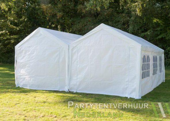 Partytent 6x6 meter achterkant huren - Partytentverhuur Leiden