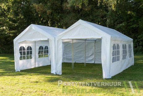 Partytent 6x6 meter voorkant huren - Partytentverhuur Leiden
